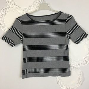Tommy Hilfiger Nautical Striped Tee Top Size L